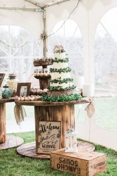 Outdoors DIY Style Wedding - Rustic Wedding Chic