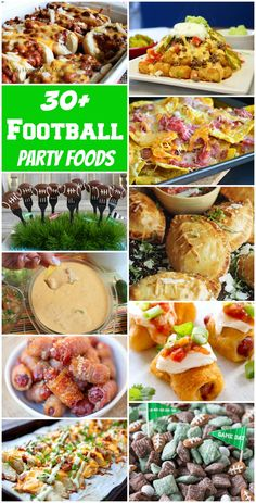 Awesome recipes for a wild pack of football fans!