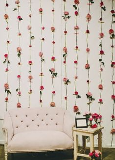 Hanging Flowers Wall