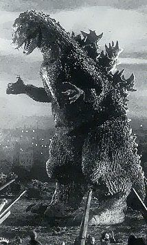 "Godzilla (from Gojira ""Godzilla"", Portrayed by Haruo Nakajima & Katsumi Tezuka Cool Monsters, Famous Monsters, Classic Monsters, Classic Sci Fi, Classic Horror Movies, Sci Fi Films, Horror Films, Japanese Monster, Creature Feature"