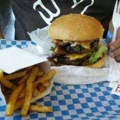 Photo of BYTES Burgers n' Fries - Richmond Hill, ON, Canada. Terrabyte Combo with fork for reference Beef Patty, Richmond Hill, Burgers, Hamburger, Fries, Canada, Fork, Ethnic Recipes, Hamburgers