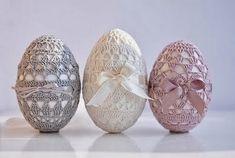 Вязаный декор пасхальных яиц - мк и схемы. Обсуждение на LiveInternet - Российский Сервис Онлайн-Дневников