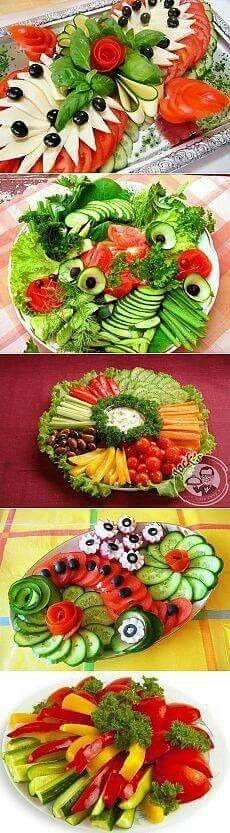 30 Ideas For Meat Platter Presentation Veggie Tray Veggie Platters, Veggie Tray, Food Platters, Meat Platter, Cute Food, Yummy Food, Appetizer Recipes, Appetizers, Fruit And Vegetable Carving