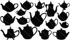 Teapot Silhouette Vector (16)