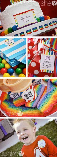 Love. Rainbow Birthday Party.  #rainbow #party