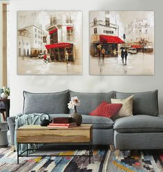 Moderno-lienzo-arte-de-la-pared-al-óleo-pintada-a-mano-del-paisaje-arpillera-Street-Cafe.jpg_640x640.jpg (602×640)