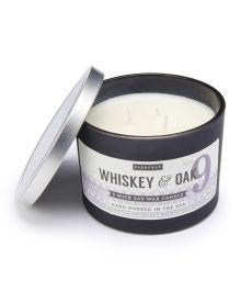 Paddywax Whiskey & Oak Scented Three Wick Soy Candle - Enhance the aroma in your home with a designer favorite like this three-wick soy wax candle, flavored with the scents of whiskey and oak. Paddywax