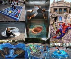 Leon Keer created this amazing 3D street painting in Venlo, The Netherlands.