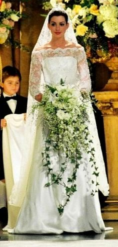 One of my favorite movie wedding dresses. Probably my favorite. Princess Mia from Princess Diaries 2.