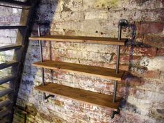 Industrial Loft Style Pipe Shelving Unit Steel Pipe Custom Sizes