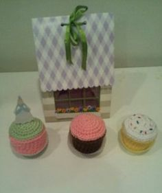 My crocheted Cup Cake Pattern on Etsy
