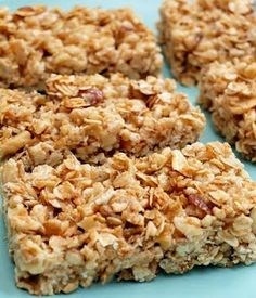 peanut butter and honey granola bars...