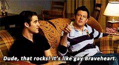 Finn, Kurt, and Blaine