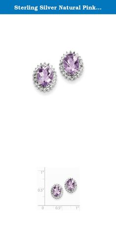 Sterling Silver Natural Pink Quartz And Natural Diamond Earrings. Look fashionable with these Pink Quartz and Diamond Earrings is crafted delicately from sterling silver. This versatile earrings set makes a great addition to any woman's jewelry collection. Item Weight: 1.7 Gm Length: 11 Mm Width: 9 Mm Earring Closure: Post \u0026 Push Back Average Weight: 1.69 Gm Attributes: * Polished * Post * Sterling Silver * Diamond * Pink Quartz * Rhodium Plated Metal: Sterling Silver Country Of…