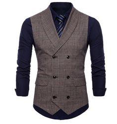 Riinr 2019 Brand Suit Vest Men Jacket Sleeveless Beige Gray Brown Vintage Tweed Vest Fashion Spring Autumn Plus Size Waistcoat Men's Waistcoat, Mens Suit Vest, Mens Suits, England Mode, Gilet Costume, Style Costume Homme, Formal Vest, England Fashion, Men's Fashion Styles