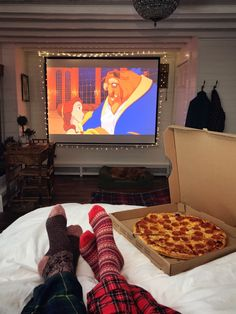 Disney movies and pizza marathon on a snowy weekend. I love married life