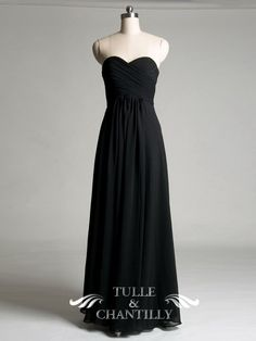 Fall Wedding Ideas - Sweetheart A-line Black Bridesmaid Dress