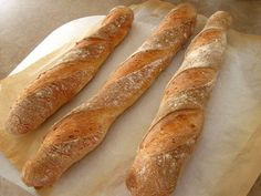 Easy German Recipes | Easy Baguette Recipe - Four Hour Bread - Stangenbrot