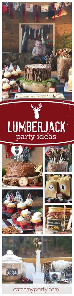 Check out this awesome Lumberjack 1st Birthday Party. Love the rustic Hot Chocolate Bar!! See more party ideas and share yours at http://CatchMyParty.com