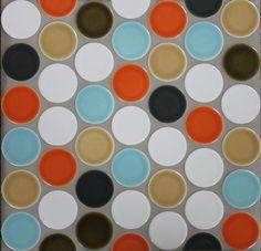 Clay Haus Handmade Ceramic Tiles.  Offset 2in Circles