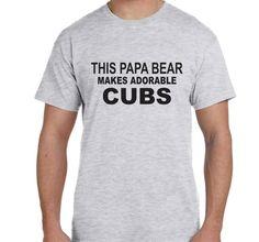 Papa Bear T-shirt Husband Gift Personalized Mens by BlueMonkeys
