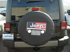 """Jeep Wrangler Liberty All American flag 35"""" inch soft spare tire cover covers"""