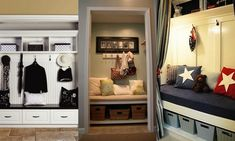 front entry wall organizer | ... little storage bench, and hang hooks on the wall! Done and done