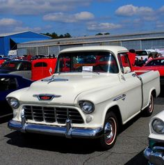 The 1955 Cameo was significant for two reasons. First, it was a design innovator. Before the Cameo, pickup trucks had stepside beds— a rectangle inner steel cargo box flanked with exposed wheel arches on the outside of the bed. The Cameo used fiberglass panels to cover those old-timey fenders, creating a smooth-sided pickup that would become the design standard in the decades to come. The Cameo was also part of the truck line to receive the all-new 265 CID small-block V8 engine. Though Ford…