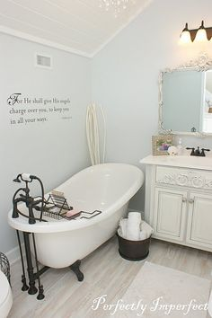 benjamin moore iceberg.....also in my bathrooms and laundry room. Love this icy blue.