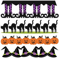 Halloween Borders SVG scrapbook cut file cute clipart files for silhouette cricut pazzles free svgs free svg cuts cute cut files