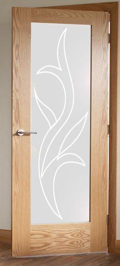 Diseño de vinilo para puerta moderno pero con aire clásico. Lo puedes poner tanto en el salón como en la cocina o lavadero, ya que el dibujo de este vinilo para cristales es  neutro pero muy elegante.
