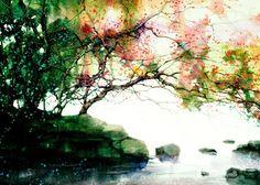 Artist Z. L. Feng - beautiful watercolor landscapes and portraits