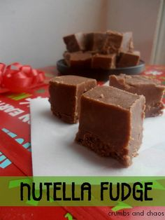 Nutella Fudge the only time of year fudge is legal for my diet! Nutella Snacks, Nutella Recipes, Fudge Recipes, Sweets Recipes, Candy Recipes, Just Desserts, Caramel Au Nutella, Nutella Fudge, Yummy Eats
