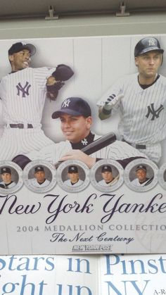 NY YANKEES MEDALLION BOOK 2004 COLLECTION -.NEXT GENERATION - NEW YORK POST #NewYorkYankees