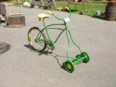 redneck chicken coops | REDNECK LAWN MOWER - JOHN DEERE 'BICYCLE'