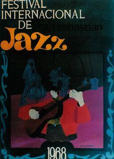 San Sebastian's Jazz Festival poster 1968