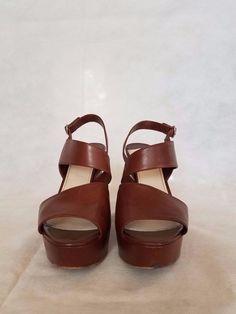 b9517198b0f PRADA Leather Brown Wedge Sandals Womens Shoes size 40 or 9 US  PRADA   PlatformsWedges