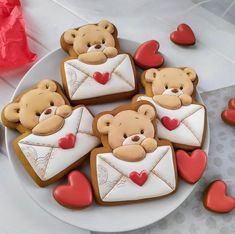 Valentines Day Cookies, Mother's Day Cookies, Cat Cookies, Cookies Et Biscuits, Cupcake Cookies, Sugar Cookies, Sugar Cookie Cutout Recipe, Cut Out Cookie Recipe, Heart Cookie Cutter