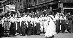 International Ladies Garment Union Workers Union strike, 1909. Just two years before the Triangle Factory fire, the Women's Trade Union League campaigned for the 8 hour work day and safe working conditions.