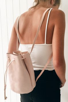Brandy ♥ Melville | Pink Bucket Backpack - Bags - Accessories