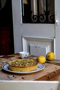 Tarte ricotta citron, aux pistaches et sirop de citron au miel - Maltese Ricotta Pie with Lemon Syrup and Pistachios ° eat in my kitchen