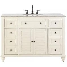 Home Decorators Collection Hamilton 61 in. W x 22 in. D Double Bath Vanity in Grey with Granite Vanity Top in Grey with White Sink - The Home Depot Bathroom Vanity Tops, White Sink, Vanity, Linen Cabinet, Granite Vanity Tops, Home Decorators Collection, Granite Vanity, Grey Cabinets, Bathroom Design