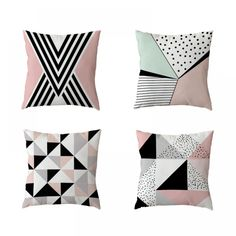 Stylish Cushion Cover Cross Pink Geometric Stripe Love Diamond Home Bedroom Sofa Decor Polyester Peach Skin Pillow Cases(China) Sequin Flower Girl Dress, Flower Girl Dresses, Cushions On Sofa, Throw Pillows, Geometric Cushions, Bedroom Sofa, Linen Sofa, Ali Express, Colorful Pillows