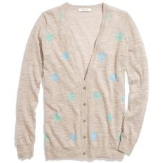 Madewell MADEWELL Fairweather Cardigan In Doubledot ($78) ❤ liked on Polyvore