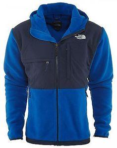 North Face Denali Hoodie Mens AMYM-CTQ Monster Cosmic Blue Fleece Jacket Sz 2XL