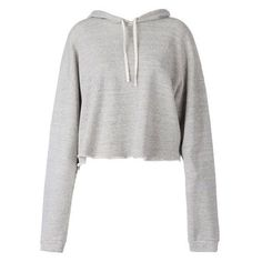 Faith Connexion Cropped Hoodie ❤ liked on Polyvore featuring tops, hoodies, sweaters, outerwear, jackets, sweatshirt hoodies, white hoodie, cropped tops, hoodie crop top and cropped hoodies