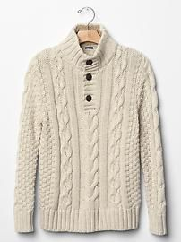 Cable knit sherpa sweater Great for your little guys (and big ones, too)