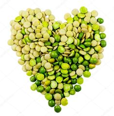 Heart of lentils and peas. #heart #lentils #peas #legumes #cereals  #healthy #vitamins #natural #nutrition #iron #cholesterol #diet #mediterranean #nutrients #carbohydrates #proteins #fiber #starch #lipids #energy #aminoacids