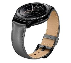 Samsung Gear S2 Classic Watch Band EloBeth Genuine Leather Strap Wrist Band Replacement Classic Buckle for Samsung Gear S2 SMR732 Smart Watch Gray *** Details can be found by clicking on the affiliate link Amazon.com.