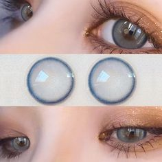 Korean Makeup Look, Asian Makeup, Blue Contacts, Colored Contacts, Make Up Art, Eye Make Up, Korea Makeup, Aesthetic Eyes, Circle Lenses